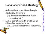 global operations strategy1
