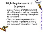 high requirements of employee
