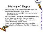 history of zappos