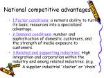 national competitive advantages