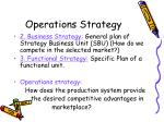 operations strategy1