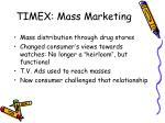 timex mass marketing