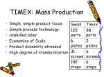 timex mass production
