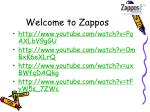 welcome to zappos