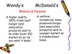 wendy s mcdonald s