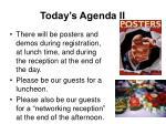 today s agenda ii