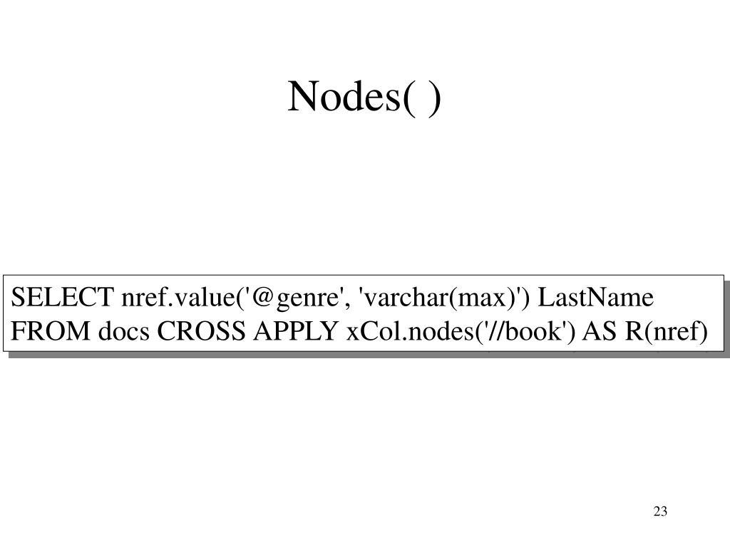 Nodes( )