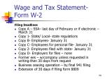 wage and tax statement form w 22