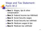 wage and tax statement form w 26