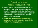 emissions across media place and time