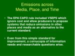 emissions across media place and time1