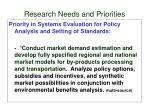 research needs and priorities5