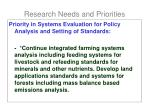 research needs and priorities6