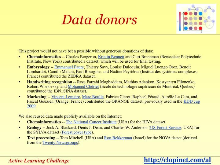 Data donors