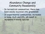 abundance change and community reassembly39