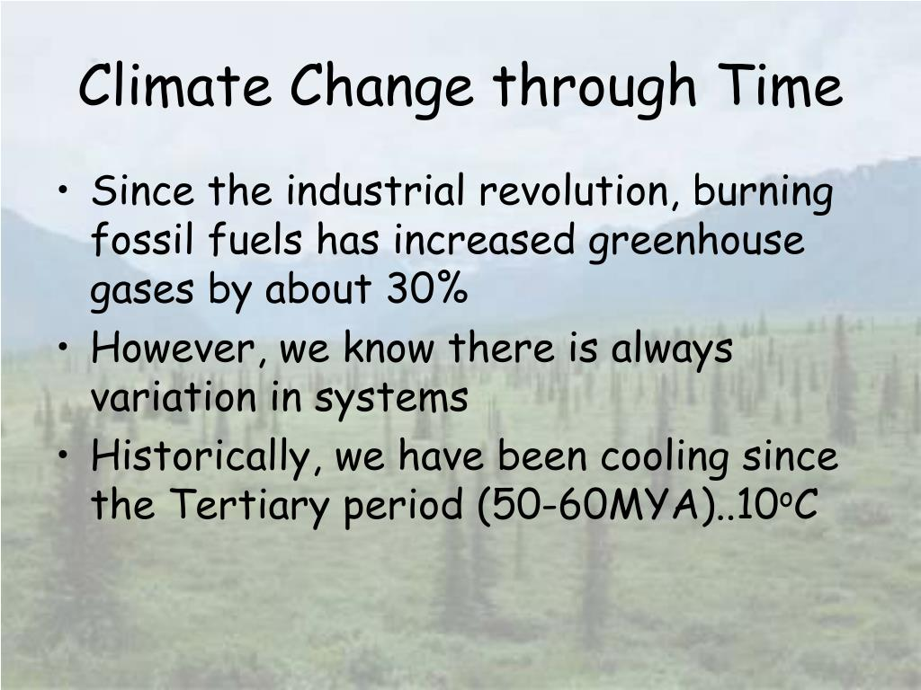 Climate Change through Time