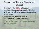 current and future climate and change19