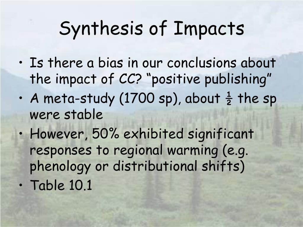 Synthesis of Impacts