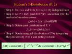 student s t distribution p 2
