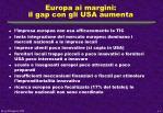 europa ai margini il gap con gli usa aumenta