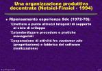 una organizzazione produttiva decentrata netsiel finsiel 1994
