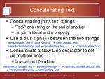 concatenating text