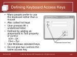 defining keyboard access keys