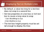 displaying text on multiple lines