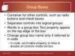group boxes