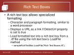 rich text boxes