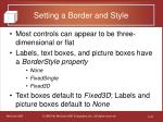 setting a border and style