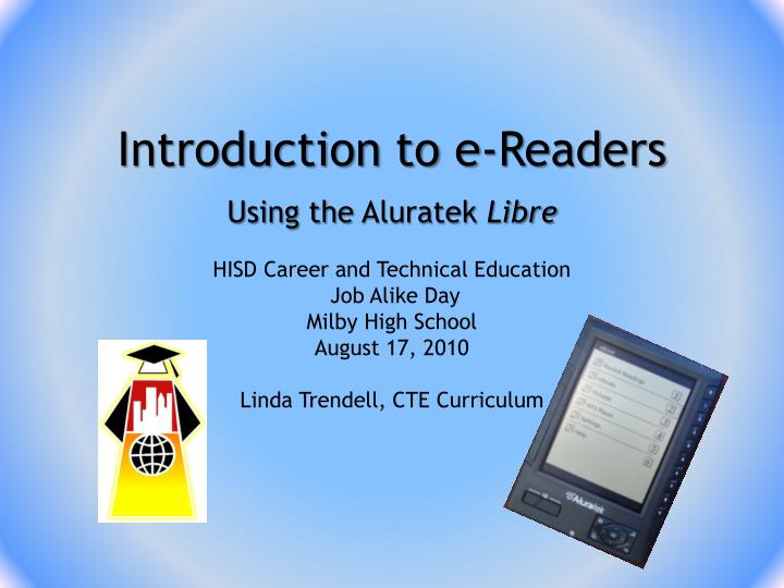 introduction to e readers n.