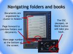 navigating folders and books