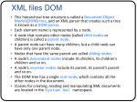 xml files dom