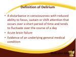 definition of delirium