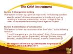 the cam instrument4