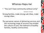 whanau hapu iwi