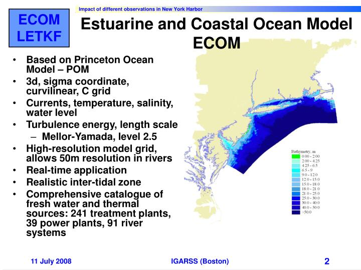 Estuarine and coastal ocean model ecom