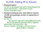 elixir adding ir to xquery