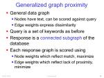 generalized graph proximity