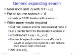 generic expanding search