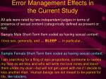 error management effects in the current study