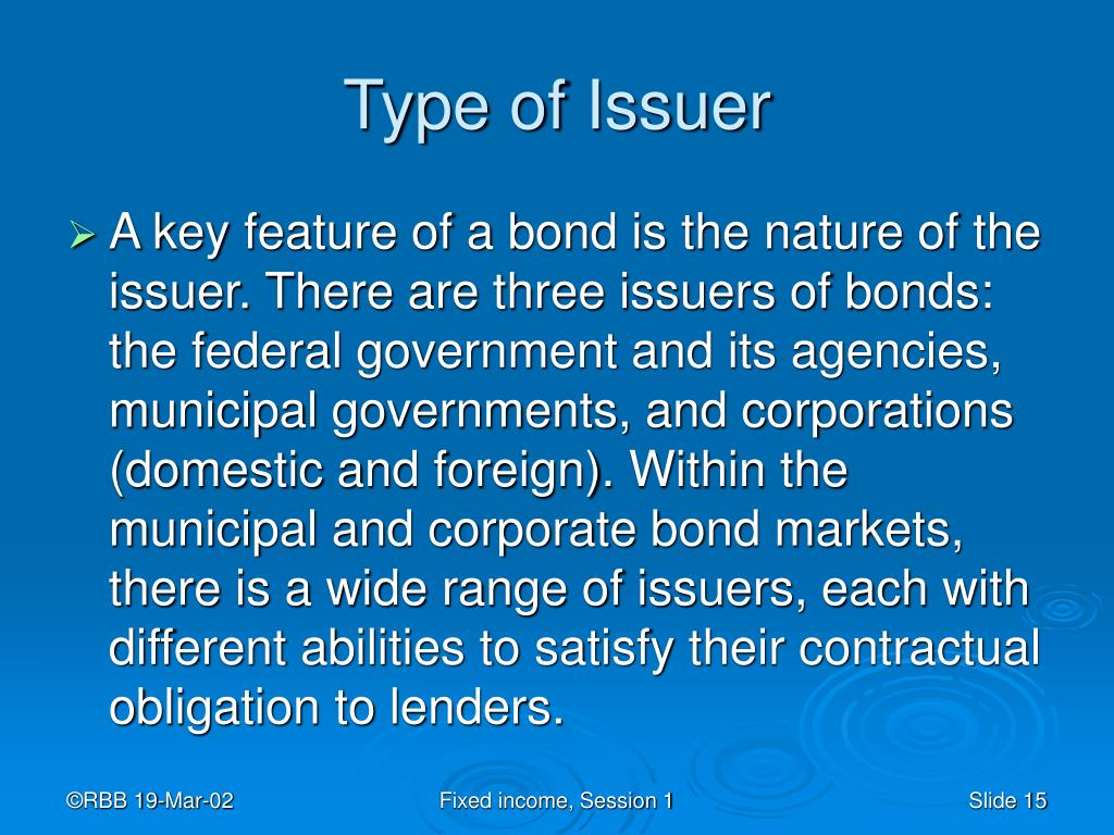Type of Issuer