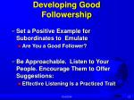 developing good followership