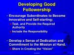 developing good followership1