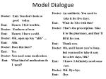 model dialogue