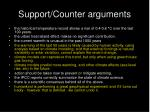 support counter arguments
