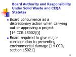 board authority and responsibility under solid waste and ceqa statutes3