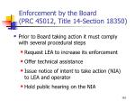 enforcement by the board prc 45012 title 14 section 183501