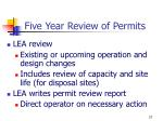 five year review of permits1